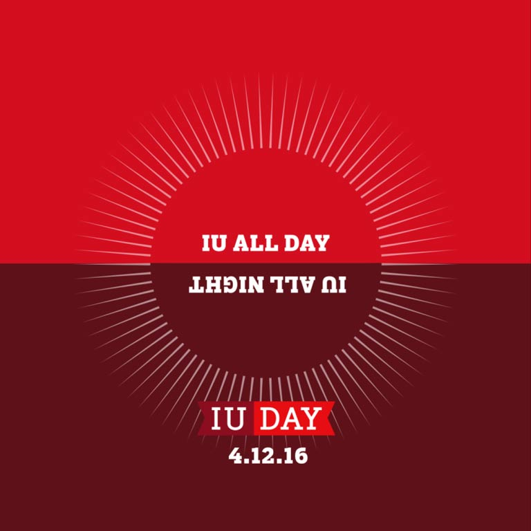 Graphic: IU all day, IU all night. IU Day 4.12.16