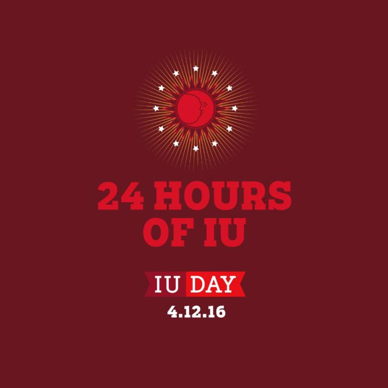 Graphic: 24 hours of IU. IU Day, 4.12.16