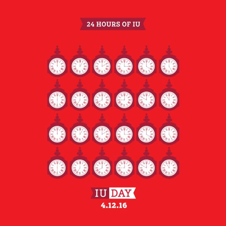 Graphic: 24 hours of IU, IU Day, 4.12.16